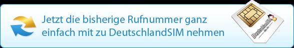 Jetzt die bisherige Rufnummer ganz einfach mit zu Deutschlandsim nehmen.