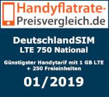 Handyflatrate-Preisvergleich.de - DeutschlandSIM LTE 750 National