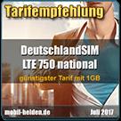 mobil-helden.de - Tarifempfehlung LTE 750 National