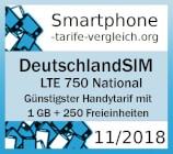Smartphone-tarife-vergleich.org -DeutschlandSIM LTE 750 National